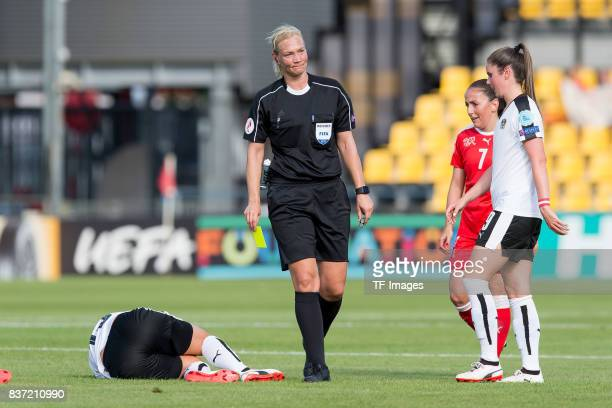 Referee Bibiana Steinhaus of Germany looks on during the Group C match between Austria and Switzerland during the UEFA Women's Euro 2017 at Stadion...
