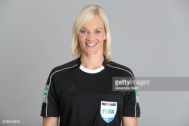 Referee Bibiana Steinhaus poses during the DFB referee team presentation on July 13 2016 in Grassau Germany