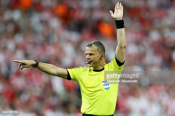 Referee Bjoern Kuipers during the UEFA EURO 2016 Group C match between Germany and Poland at Stade de France on June 16 2016 in Paris France