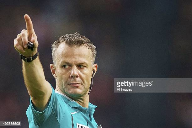 referee Bjorn Kuipers during the Dutch Eredivisie match between Ajax Amsterdam and Roda JC Kerkrade at the Amsterdam Arena on October 31 2015 in...