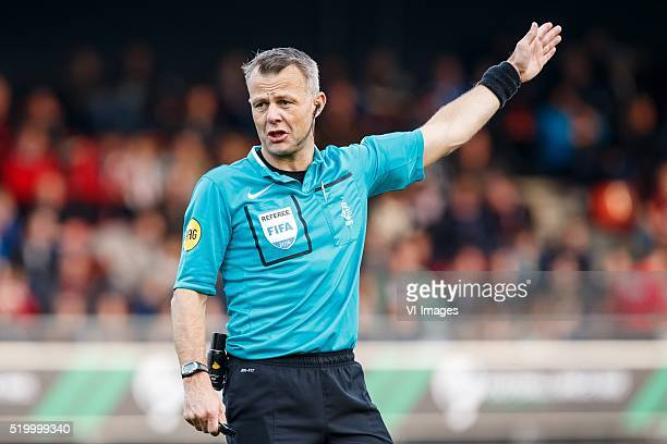 referee Bjorn Kuipers during the Dutch Eredivisie match between Excelsior and Heracles Almelo on april 9 2016 at Stadium Woudestein in Rotterdam the...