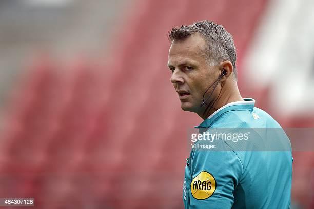 Referee Bjorn Kuipers during the Dutch Eredivisie match between FC Utrecht and SC Heerenveen at the Galgenwaard Stadium on August 16 2015 in Utrecht...
