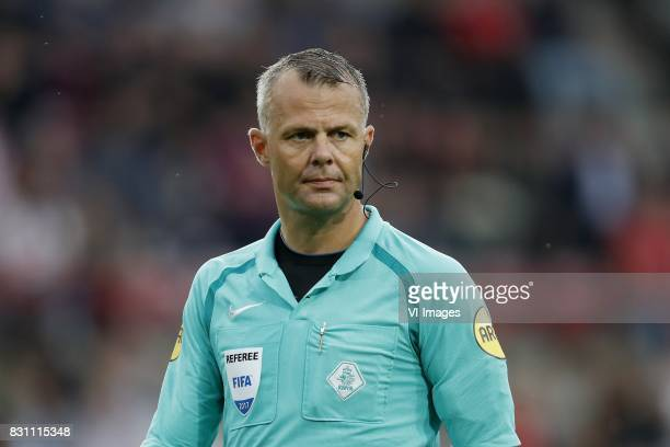 referee Bjorn Kuipers during the Dutch Eredivisie match between PSV Eindhoven and AZ Alkmaar at the Phillips stadium on August 12 2017 in Eindhoven...