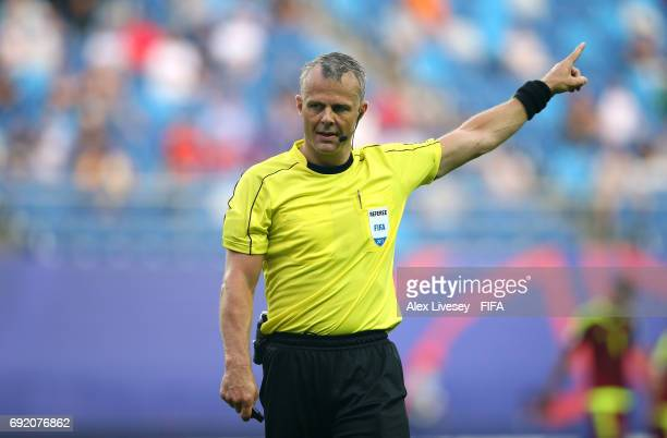 Referee Bjorn Kuipers during the FIFA U20 World Cup Korea Republic 2017 Round of 16 match between Venezuela and Japan at Daejeon World Cup Stadium on...