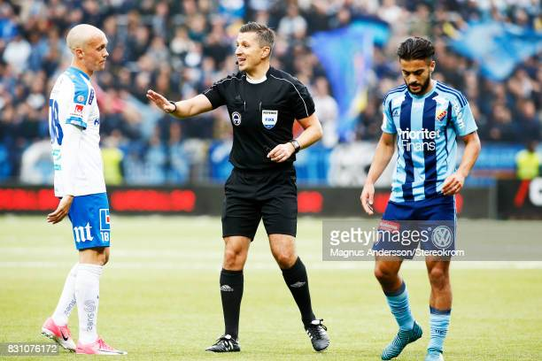 Referee Bojan Pandzic during the Allsvenskan match between IFK Norrkoping and Djurgardens IF on August 13 2017 in Norrkoping Sweden