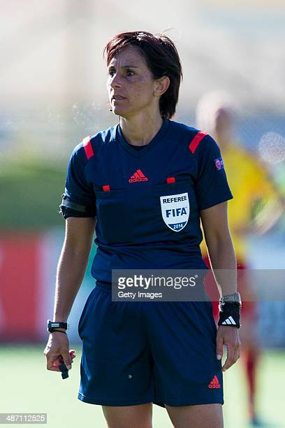Referee Catina Susana Vitulano in action during the UEFA Women's Champions League SemiFinal Second Leg between Tyreso FF and Birmingham City Ladies...