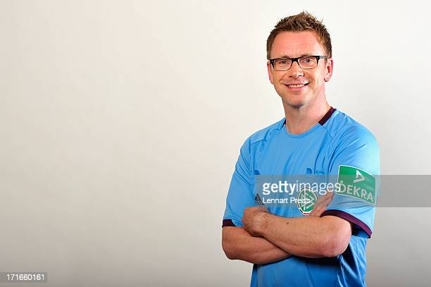 Referee Christian Fischer poses during the DFB referee team presentation on June 27 2013 in Grassau Germany