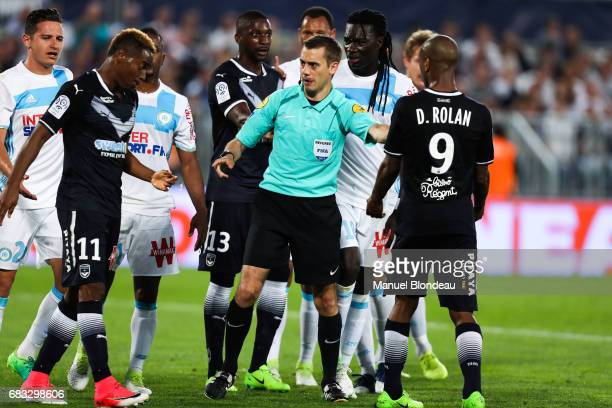 Referee Clement Turpin during the Ligue 1 match between Girondins de Bordeaux and Olympique de Marseille at Nouveau Stade de Bordeaux on May 14 2017...