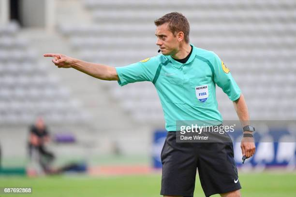 Referee Clement Turpin during the Playoff match between Paris Fc and Us Orleans at Stade Charlety on May 23 2017 in Paris France