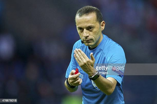 referee Cuneyt Cakir during the UEFA Champions League final match between Barcelona and Juventus on June 6 2015 at the Olympic stadium in Berlin...