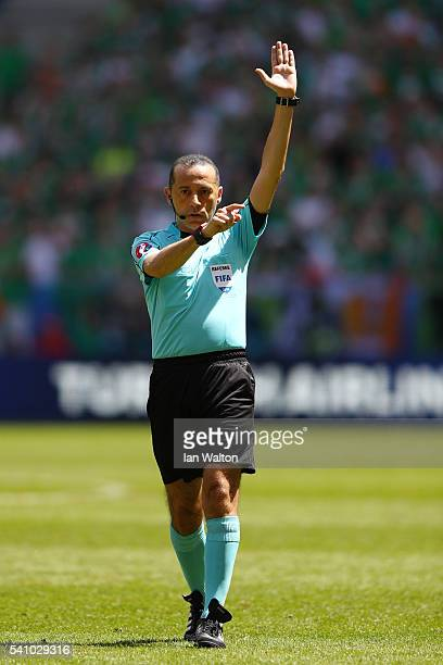 Referee Cuneyt Cakir during the UEFA EURO 2016 Group E match between Belgium and Republic of Ireland at Stade Matmut Atlantique on June 18 2016 in...