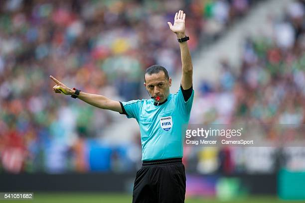 Referee Cuneyt Cakir during the UEFA Euro 2016 Group E match between Belgium and Republic of Ireland at Stade de Bordeaux on June 18 2016 in Bordeaux...