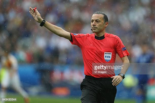 Referee Cuneyt Cakir during the UEFA Euro 2016 round of 16 match between Italy and Spain on June 27 2016 at the Stade de France in Paris France