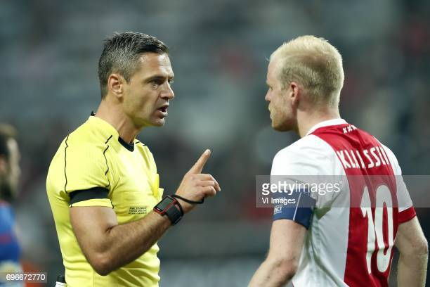 referee Damir Skomina Davy Klaassen of Ajaxduring the UEFA Europa League final match between Ajax Amsterdam and Manchester United at the Friends...
