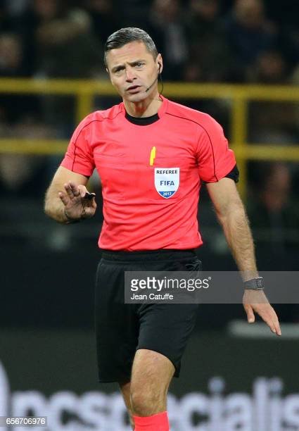 Referee Damir Skomina of Slovenia during the international friendly match between Germany and England at Signal Iduna Park on March 22 2017 in...