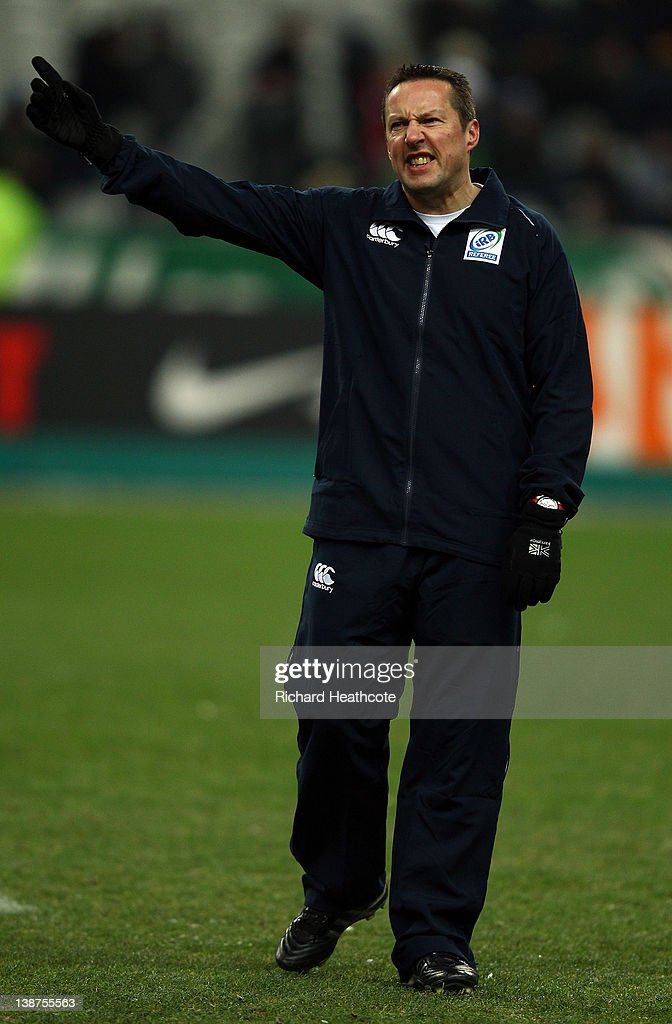 Referee Dave Pearson walks off as the match is called off just before kick off due to a frozen pitch during the RBS 6 Nations match between France and Ireland at Stade de France on February 11, 2012 in Paris, France.