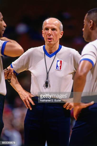 Referee Dick Bavetta looks on during a game at Madison Square Garden in New York New York circa 1991 NOTE TO USER User expressly acknowledges and...