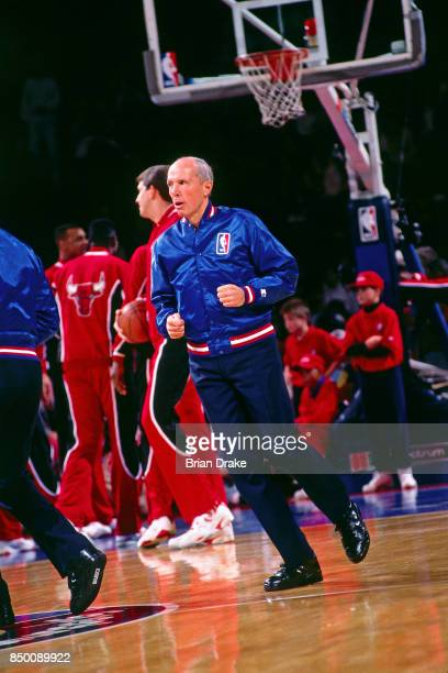 Referee Dick Bavetta warms up before a game at Memorial Coliseum in Portland Oregon circa 1991 NOTE TO USER User expressly acknowledges and agrees...