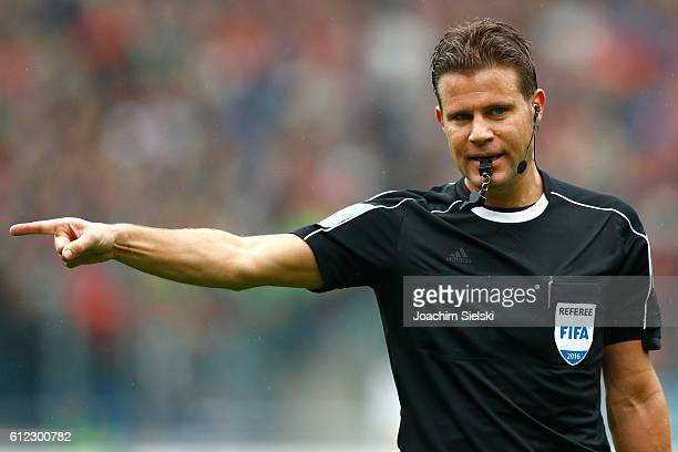 Referee Dr Felix Brych during the Second Bundesliga match between Hannover 96 and FC St Pauli at HDIArena on October 1 2016 in Hanover Germany