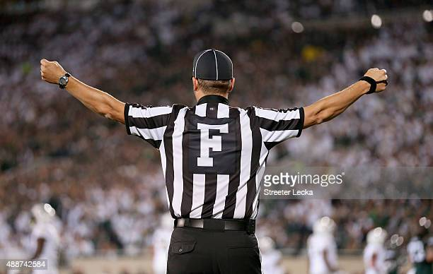 A referee during their game at Spartan Stadium on September 12 2015 in East Lansing Michigan