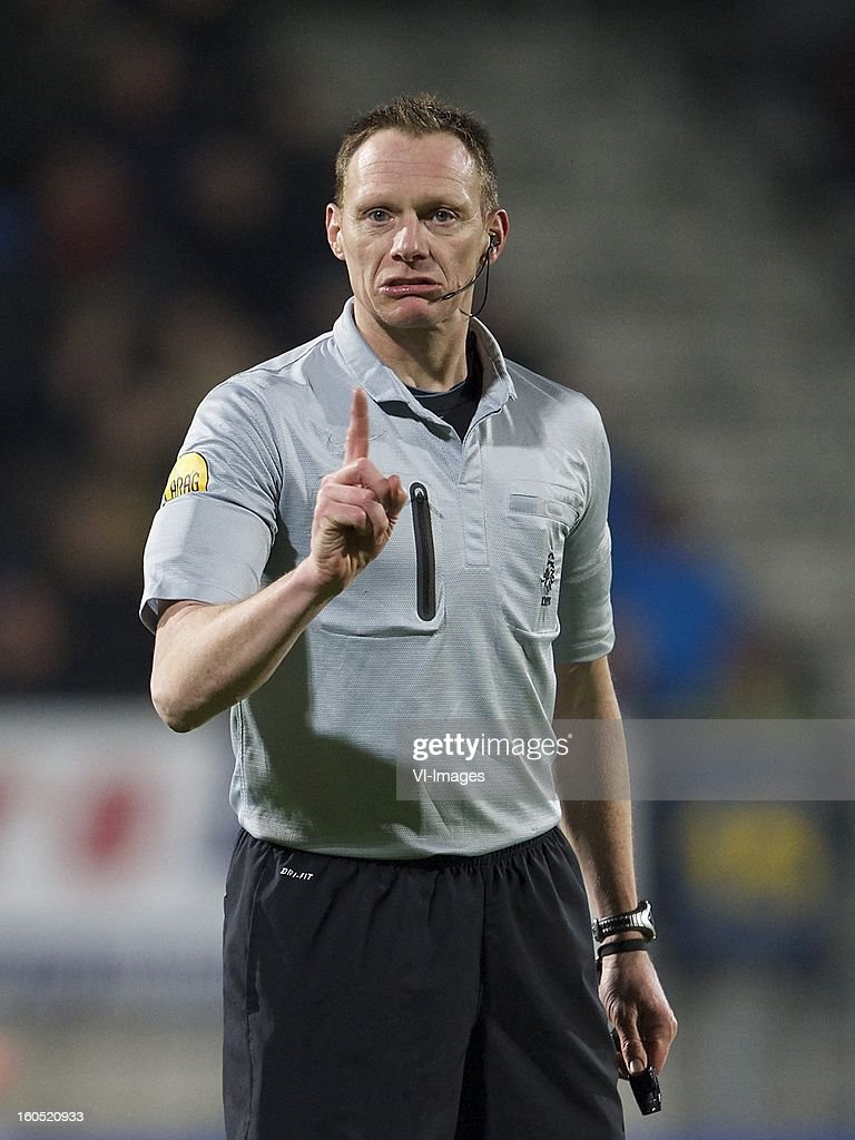 referee Ed Janssen during the Dutch Eredivisie match between RKC Waalwijk and SC Heerenveen at the Mandemakers Stadium on february 1, 2013 in Waalwijk, The Netherlands