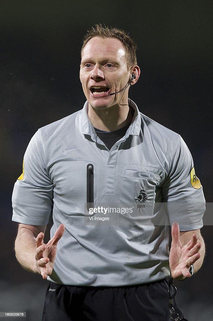 referee Ed Janssen during the Dutch Eredivisie match between RKC Waalwijk and SC Heerenveen at the Mandemakers Stadium on february 1, 2013 in Waalwijk, The Netherlands