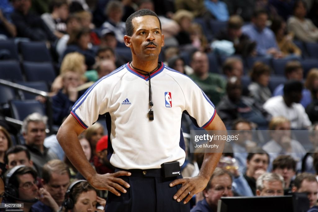 Referee Eric Lewis looks on during the game between the Memphis Grizzlies and the Phoenix Suns at the FedExForum on December 30 2008 in Memphis...