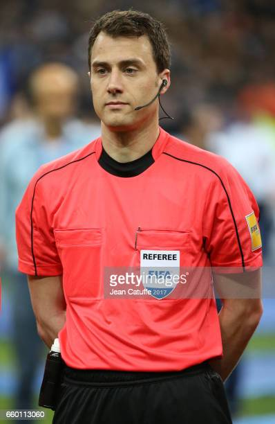 Referee Felix Zwayer of Germany looks on before the international friendly match between France and Spain between France and Spain at Stade de France...