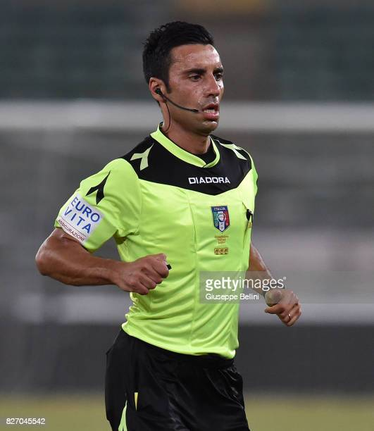 Referee Francesco Paolo Saia during the TIM Cup match between AS Bari and Parma Calcio at Stadio San Nicola on August 6 2017 in Bari Italy