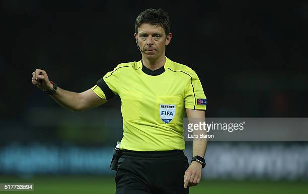 Referee Gianluca Rocchi is seen during the International Friendly match between Germany and England at Olympiastadion on March 26 2016 in Berlin...
