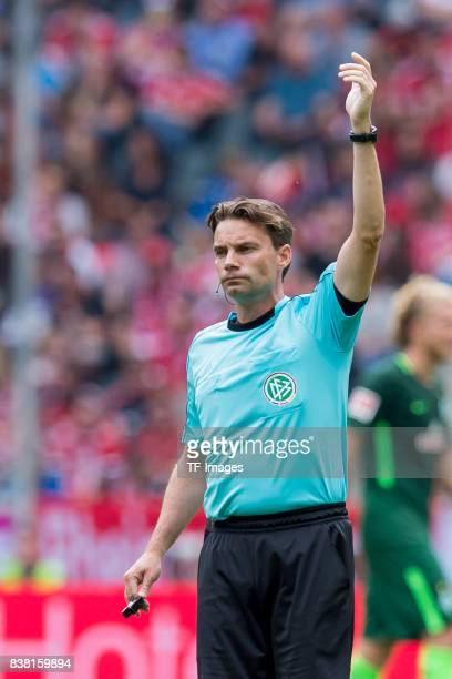 Referee Guido Winkmann gestures during the Telekom Cup 2017 match between Borussia Moenchengladbach and Werder Bremen at on July 15 2017 in...