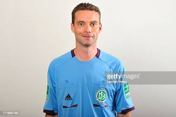 Referee Guido Winkmann poses during the DFB referee team presentation on June 27 2013 in Grassau Germany