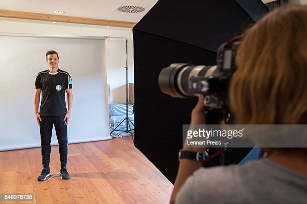 Referee Harm Osmers has his picture taken during the annual referee course photo shooting on July 13 2016 in Grassau Germany