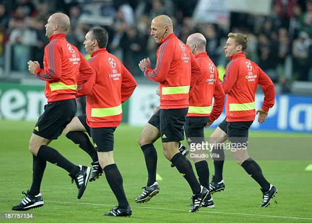 Referee Howard Webb prior to the UEFA Champions League Group B match between Juventus and Real Madrid at Juventus Arena on November 5 2013 in Turin...