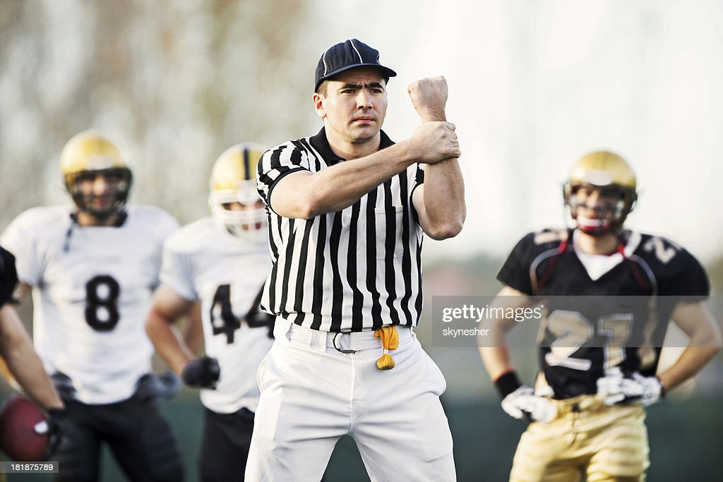 Referee: Illegal Use of Hands. : Stock Photo