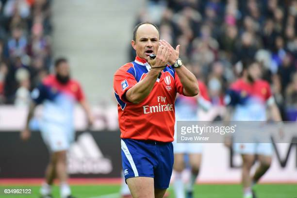 Referee Jaco Peyper during the RBS Six Nations match between France and Scotland at Stade de France on February 12 2017 in Paris France