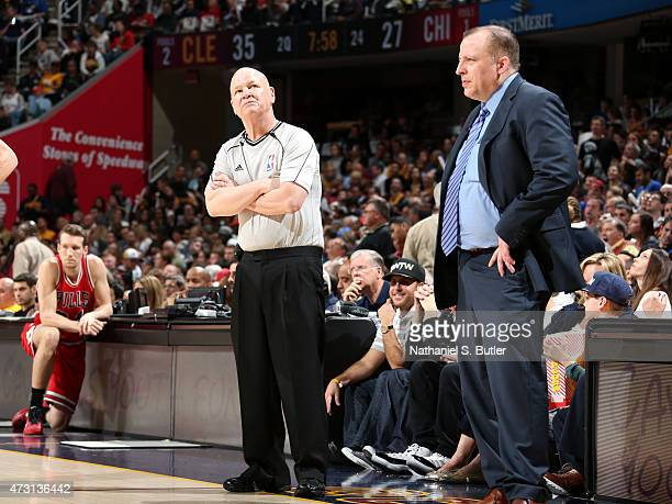 NBA referee Joe Crawford looks on during the game between the Cleveland Cavaliers and Chicago Bulls in Game Five of the Eastern Conference Semifinals...