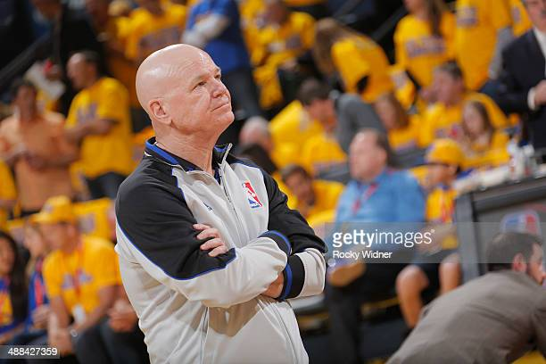 Referee Joey Crawford before a game between the Los Angeles Clippers and Golden State Warriors in Game Four of the Western Conference Quarterfinals...