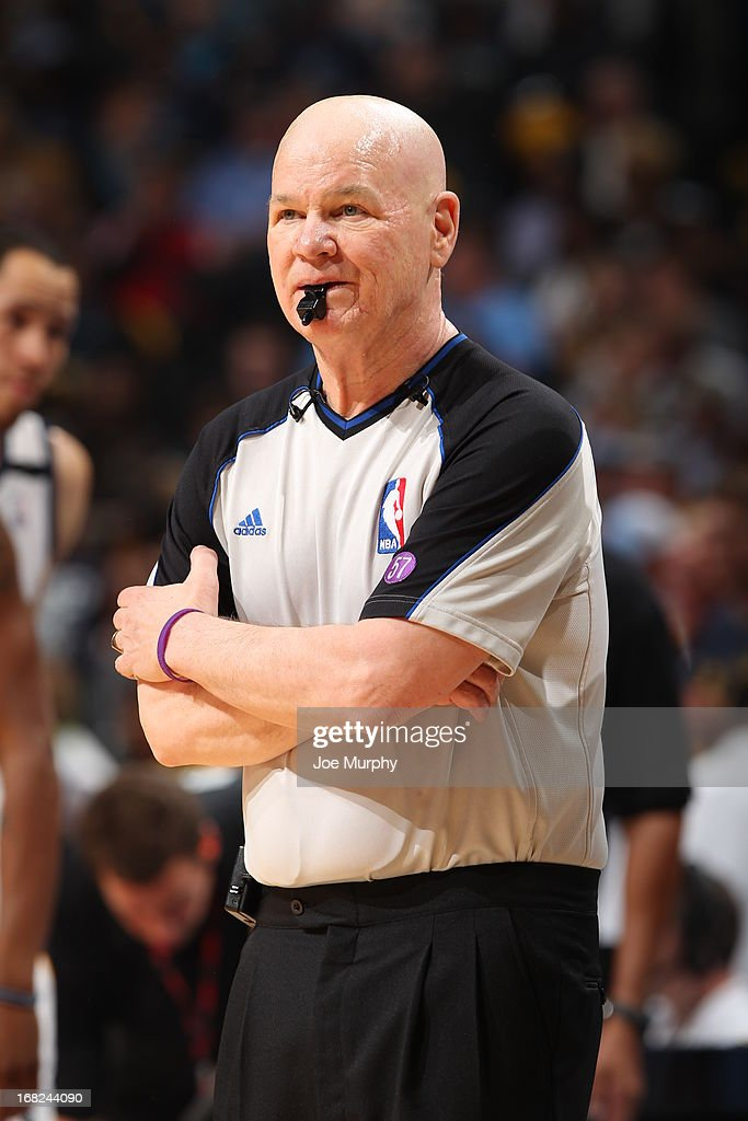 NBA referee Joey Crawford during the game between the Memphis Grizzlies and Los Angeles Clippers in Game Six of the Western Conference Quarterfinals during the 2013 NBA Playoffs on May 3, 2013 at FedExForum in Memphis, Tennessee.