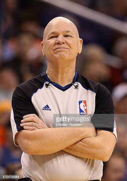 Referee Joey Crawford during the NBA game between the Phoenix Suns and Indiana Pacers at US Airways Center on January 22 2014 in Phoenix Arizona The...