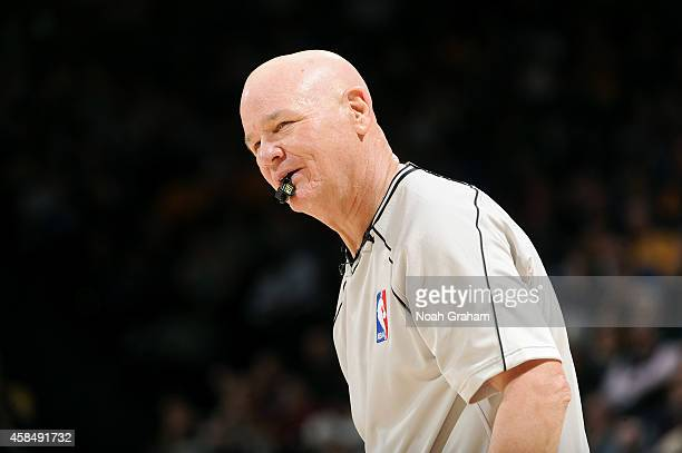 Referee Joey Crawford stands on the court during a game between the Los Angeles Clippers and Golden State Warriors on November 5 2014 at Oracle Arena...