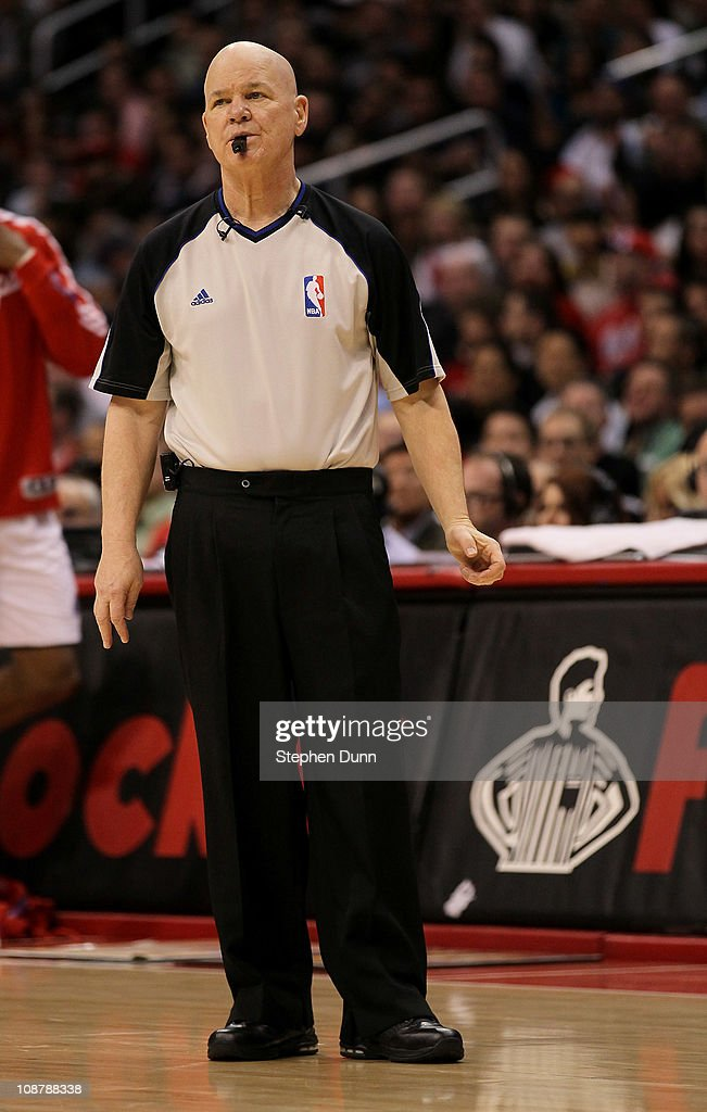 Referee Joey Crawford stnads on the court during the game between the Chicago Bulls and the Los Angeles Clippers at Staples Center on February 2, 2011 in Los Angeles, California.
