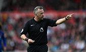 middlesbrough england referee jonathan moss action