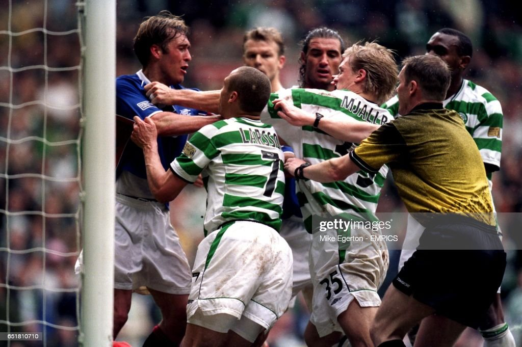 Image result for johan mjallby argues with referee