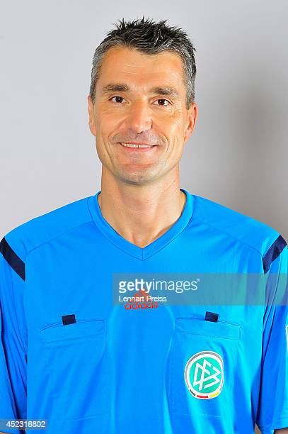 Referee Knut Kircher poses during a portrait session during the Annual Referee Course on July 17 2014 in Grassau Germany