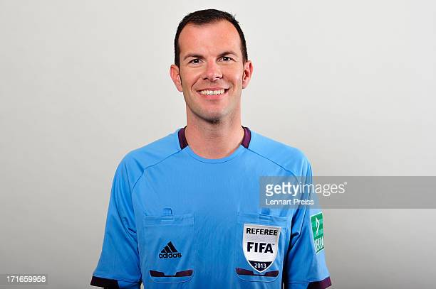 Referee Marco Fritz poses during the DFB referee team presentation on June 27 2013 in Grassau Germany
