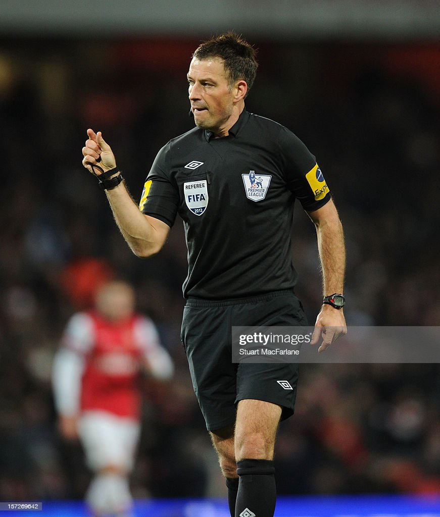 Referee Mark Clattenberg during the Barclays Premier League match between Arsenal and Swansea City, at Emirates Stadium on December 01, 2012 in London, England.