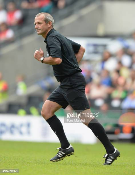 Referee Martin Atkinson during the FA Women's Cup Final match between Everton Ladies and Arsenal Ladies at Stadium mk on June 1 2014 in Milton Keynes...