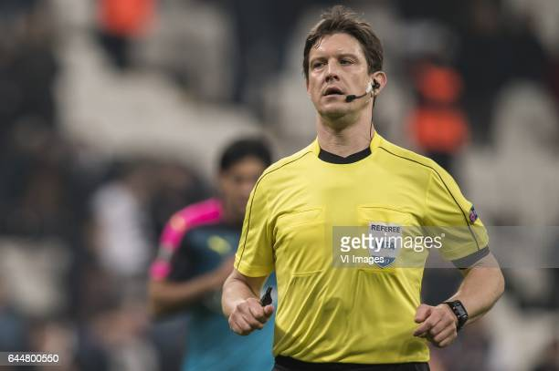 referee Matej Jugduring the UEFA Europa League round of 16 match between Besiktas JK and Hapoel Beer Sheva on February 23 2017 at the Vodafone Arena...