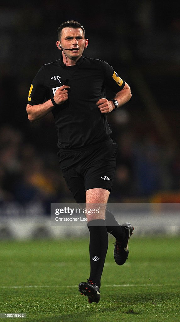 Referee Michael Oliver during the npower Championship Play Off Semi Final, First Leg at Selhurst Park on May 10, 2013 in London, England.
